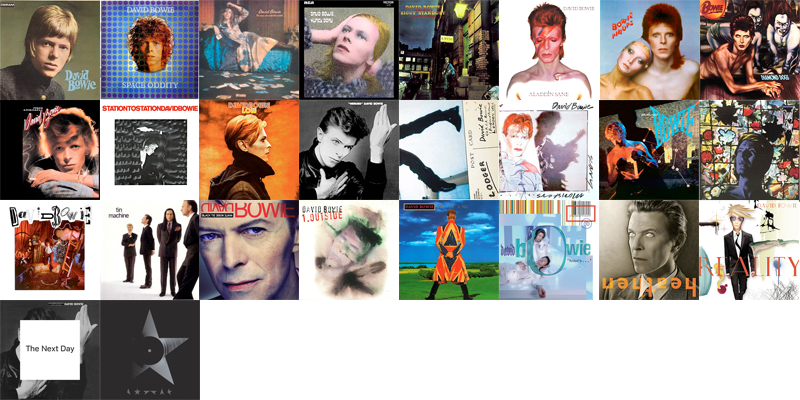 I Listened to all 26 David Bowie's studio albums in Chronological Order this week, and picked my favorite tracks