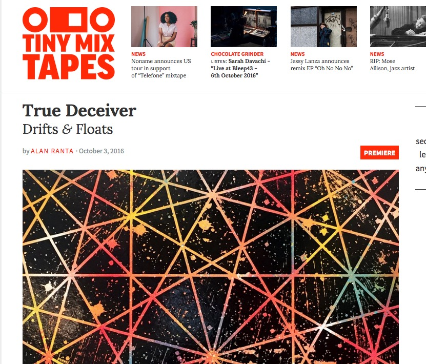"""Tiny Mix Tapes premieres True Deceiver single """"Drifts & Floats"""""""